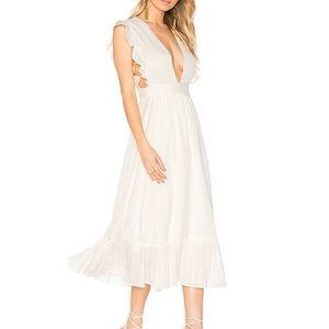 Majorelle Mistwood Dress. Ivory/ White. Small